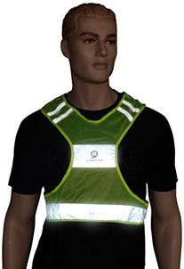 Safeways LED Runner Vest, Neon Yellow