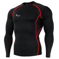 Baleaf Men's Long Sleeve Running Fitness Workout Compression