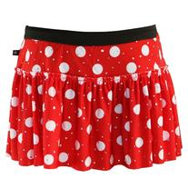 Red with White Polka Dots Sparkle Running Skirt L