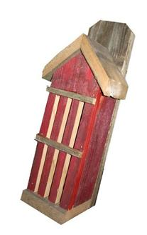 Rustic Butterfly House from Recycled Fence Wood: RED