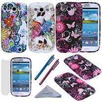S3 Case, Wisdompro 3 Pack Bundle of Color and Graphic Soft