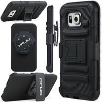 Galaxy S6 Case, ULAK Galaxy S6 Holster Kickstand Case Dual
