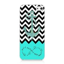 Anchor Chevron Retro Vintage Tribal Nebula Pattern Hard Case