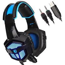 Sades SA-738 3.5mm Wired Stereo Lightweight Over Ear Gaming