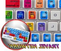NEW SABRE TRAVEL NETWORK STICKERS FOR KEYBOARD FOR DESKTOP,
