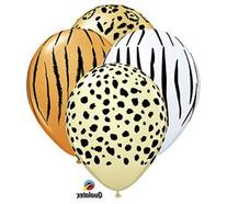 Qualatex Safari Assortment Biodegradable Latex Balloons, 11-