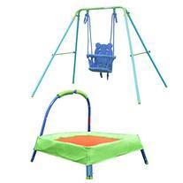 HLC Safety Folding Toddler Swing + 32'' Padded Trampoline