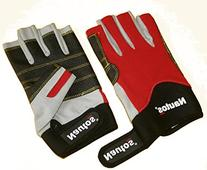 SAILING GLOVES - WHITE AMARA, GRIPPY ON PALM AND RED FORWAY