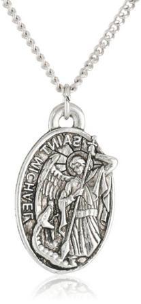Men's Saint Michael Pendant Necklace, 20