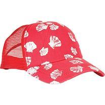 Billabong Girls Sally Shells Adjustable Hat One Size Rio Red
