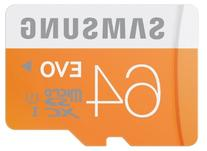 Samsung Memory 64GB Evo MicroSDXC UHS-I Grade 1 Class 10
