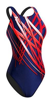 TYR SPORT Women's Samurai Maxfit Swimsuit, Blue, Size 30