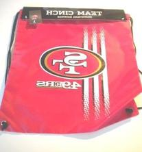 San Francisco 49ers Drawstring Backpack Back Sack