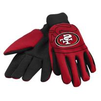 San Francisco 49ers Raised Logo Gloves - Scarlet