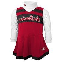 NFL Toddler Girls Cheer Jumper Dress W/ Turtleneck - San