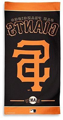 MLB San Francisco Giants Fiber Beach Towel, 9lb/30 x 60