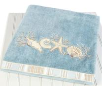 Avanti Linens 019681MIN Sand Shells Bath Towel, Medium,