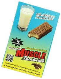 Muscle Foods Muscle Sandwich Bars, Peanut Butter Graham, 2-