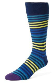 Men's Paul Smith Sanny Stripe Socks, Size One Size - Blue