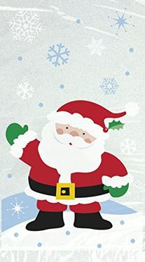 Santa Claus Christmas Cello Bags, 20-Count