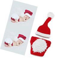 yazi Santa Claus Crochet Knitted Outfit Newborn Unisex Baby