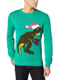 Alex Stevens Men's Santasaurus Rex, Jade, Large