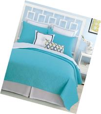 Trina Turk Santorini Turquoise Twin Coverlet Bedding