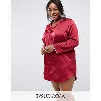 ASOS CURVE Satin Night Shirt