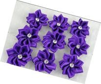 YAKA 60 Pcs Satin the Ribbon Flowers with the Appliques