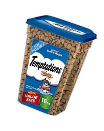 TEMPTATIONS Classic Treats for Cats Savory Salmon Flavor 16