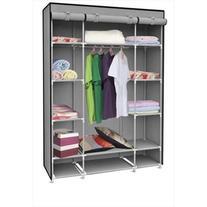 Home Basics SC01506 Storage Closet With Shelving Grey