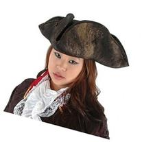 Scallywag Pirate Costume Hat in Black