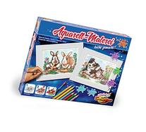 Schipper Dog & Cat & Rabbits Watercolor Kit Paint-by-Number