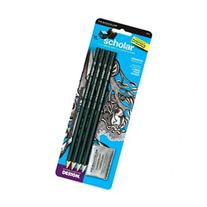 Prismacolor Scholar Graphite Pencil Set, 4B, 2B, HB, 2H