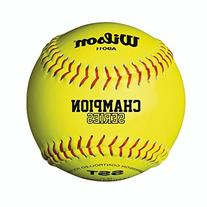 """Wilson High School and Adult Fast Pitch 12"""" Balls, Polycore"""