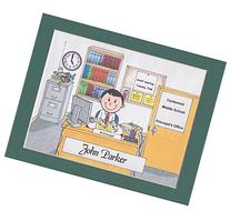 School Principal Gift Personalized Custom Cartoon Print 8x10