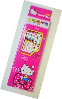 Set of 5 Hello Kitty School Supplies Pencil- Pink