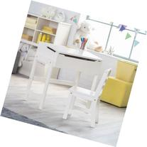 Lipper Schoolhouse Desk and Chair Set - Vanilla