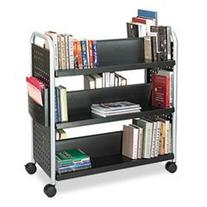 ** Scoot Book Cart, 6-Shelf, 40w x 17-1/2d x 41-1/2h, Black