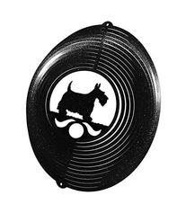 SCOTTISH TERRIER Circle Swirly Metal Wind Spinner
