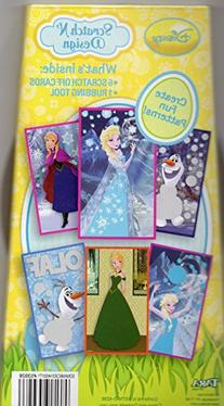 Disney Frozen Scratch N' Design 6 Scratch Off Cards & 1