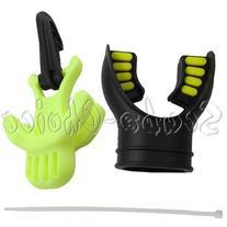 Scuba Dive Black Yellow Silicone Mouthpiece & Standard