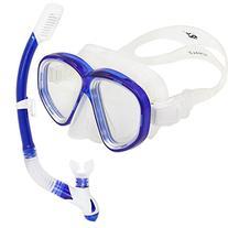 Promate Scuba Dive Dry snorkel Mask Snorkeling Set  AllBalck