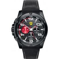 Ferrari Scuderia Paddock Chronograph Black Dial Black