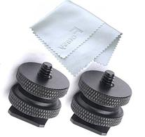 Fotasy SCX2 1/4-Inch 20 Tripod Screw to Hot Shoe Adapter