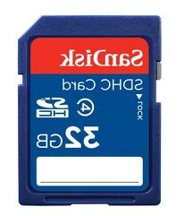 SanDisk 32GB SDHC Flash Memory Card