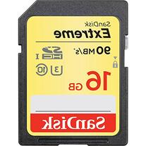 SanDisk 16GB Extreme SDHC UHS-I Memory Card - 90MB/s, C10,