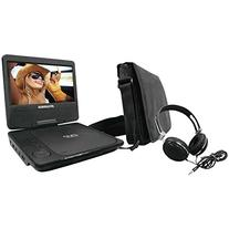 Sylvania SDVD7060-Combo-Black Portable DVD Player Bundle