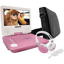 Sylvania SDVD7060-Combo-Pink 7-Inch Portable DVD Player
