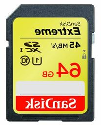 SanDisk Extreme 64GB SDXC UHS-1 Flash Memory Card Speed Up